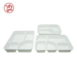 De nombreux hôtel hors de l'ouest de la taille des ustensiles de cuisine en porcelaine blanche déjeuner bento Box