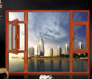 유럽식, 미국식 알루미늄 목제 여닫이 창 개인적인 관례, 공장 Outletsprice Vill를 위한 튼튼한 알루미늄 두 배 유리제 여닫이 창 Windows를 가득 차있 나누십시오