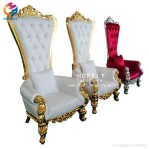 Evento de boda blanca de madera y Silver King y Queen presidente
