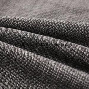 Dos de Color de Jacquard de alta densidad de tejido de poliéster Sofá en gris.