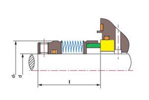 Сильфонное уплотнение металла Tsmb-J01 (замените кран 670, 680, 676 Джон)