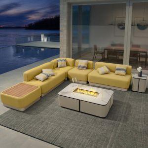Meubles de jardin patio Canapé modulaire de plein air de luxe pour l'hôtel