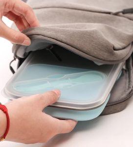 Silicone FDA Recipiente para alimentar o recipiente de armazenamento dobrável e Lunch Box SB104