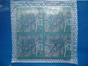 PCB de multicamada Soldermask azul de Camada 4 FR4 com ouro de imersão