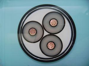 6/10kv, 11kv, 3core 240sqmm souterrain de câble d'alimentation en polyéthylène réticulé