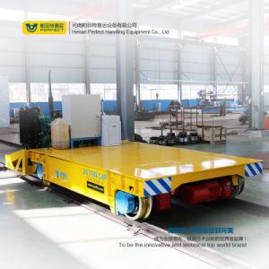 Transferência de armazém Rail Veículo Plana Carrinho de Carga Pesada