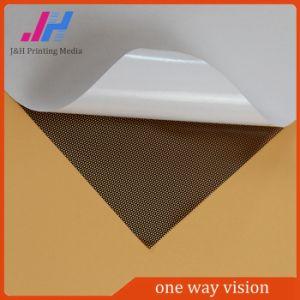 Claro removível película adesiva de tecido de malha de visão de Uma Via