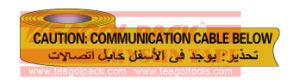 De ondergrondse Communicatie van de Voorzichtigheid Band van de Kabel