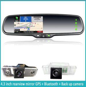 GPS & Navigation Mirror van de auto met Touch Screen en Car Camera (JM-043LA)