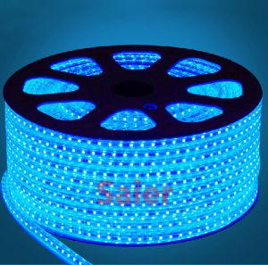 LED de alta tensión de 60 metros/3000k Tira de LED flexibles impermeables 3528