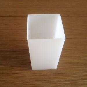 Plastikgefäß-Weiß-Farbe der produkt-PMMA