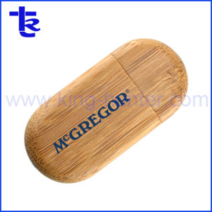 precio de fábrica de madera redonda de madera Disco USB Flash Drive Pen