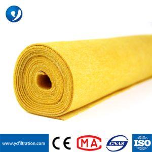 Cor Amarelo Yuanchen Poliamida composto de PTFE de tecido do filtro do coletor de pó