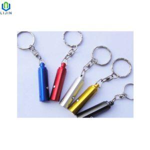 열쇠 고리 승진 선물 토치를 가진 삼각형 모양 LED 플래쉬 등