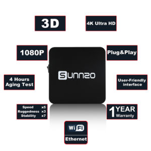 Sunnzo G8 mini androider intelligenter Fernsehapparat-Kasten mit Amlogic S905X 1GB RAM/8GB ROM-Support HD 4K 1080P, 2.4GHz WiFi