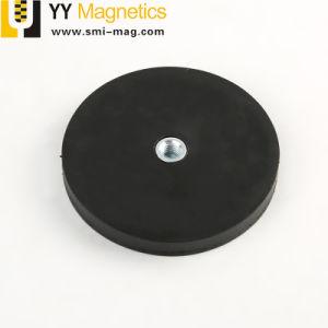 Dia 66強い引き力のゴム製上塗を施してあるネオジムの鍋の磁石