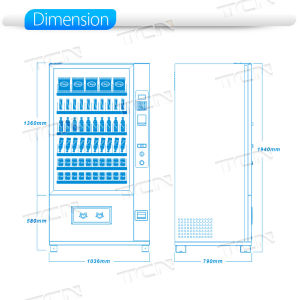 Npt 2018 Vender Combo quente máquina de venda automática de snacks e bebidas