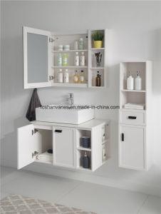 Casa de madeira do mobiliário branco mobiliário MDF armário de toucador RM8825