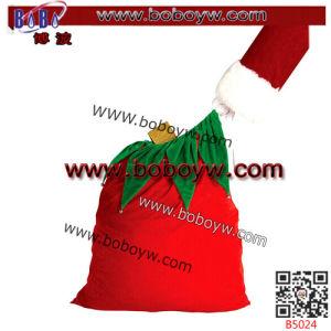 Ornamento di natale del ricamo della busta del feltro di colore rosso della decorazione di festa (B5089)