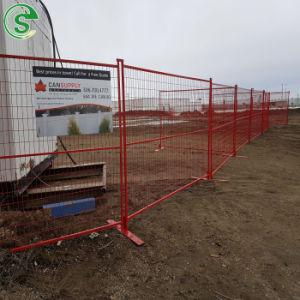 Canadá Standard temporal recubierto de polvo de valla de malla con base