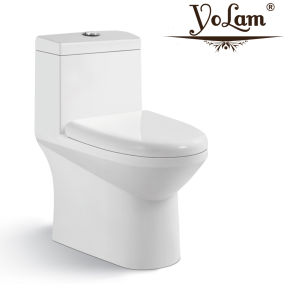 Prix de gros articles sanitaires s piège une pièce de la porcelaine sanitaire toilettes pour salle de bains (X1)
