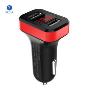 Auto Dual USB Cargador con su logotipo y el anillo de LED, Micro Dual Universal USB Cargador de coche