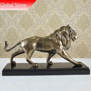 現代Bronze-Colouredライオンの彫刻の樹脂の彫像(GSBR-214)