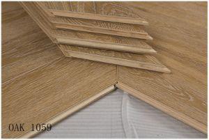 Roble Euopean diseñado Chevron parquet de madera de la naturaleza de la Cera 1059