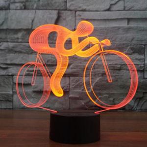 Лучший подарок 7 смены цветов прокатится 3D оптическая иллюзия LED настольная лампа