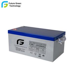 Al por mayor de 12V 260Ah batería de gel de ciclo profundo mantenimiento gratuito