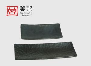 Vaisselle plaque rectangulaire sculpté Sushi (8019)