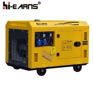 8.0 Kwのディーゼル発電機セットの携帯用ホーム使用の発電機(DG11000SE)