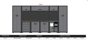 Taller metalúrgico gabinete de almacenamiento del garaje de la serie GC