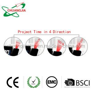 De draaibare Wekker van de Projectie Met de BinnenMonitor van de Vochtigheid van de Temperatuur
