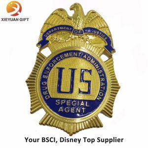 Fábrica de BSCI hacer profesional de placa de policía de latón personalizado