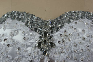 Mangas curtas V Pescoço Lace vestido de noiva Suite Bata