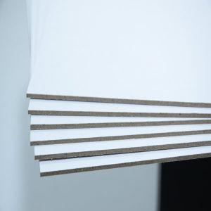 Carte à puce 1,5mm stratifié blanc Uncoat +carte ou d'Ange