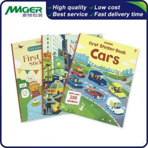 Customized Low Cost Magazine capa dura de catálogo crianças autocolante impressão de livros