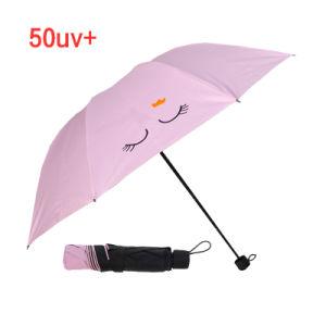 3 Sun inversé de pliage parapluie avec revêtement noir-19-77 (YZ)