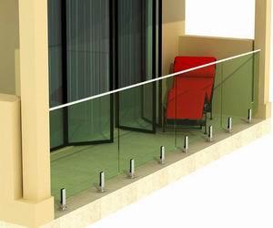 De Balustrade/het Traliewerk/de Vangrail van het Glas van Frameless van het balkon met Spon