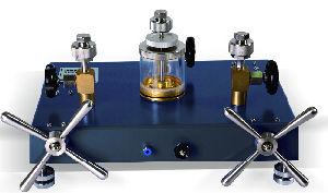 La bomba de calibración hidráulica