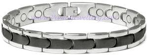 Silber und Black Titanium Bracelet mit Germanium (SB-029SB)