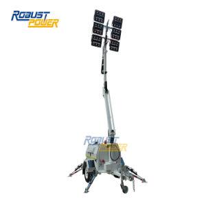 Australia mástil telescópico Hidráulico estándar la minería de la torre de proyectores de luz LED