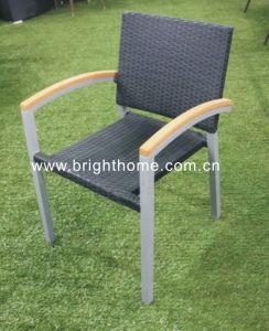 テラスの灯心の藤の椅子のテラスの椅子の屋外の椅子アーム椅子