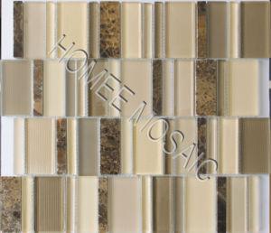 Mélange de verre carreaux de mosaïque de pierre (YS07)