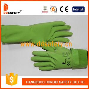 Ddsafety 2017の緑の乳液の世帯の手袋の魚スケールのグリップ