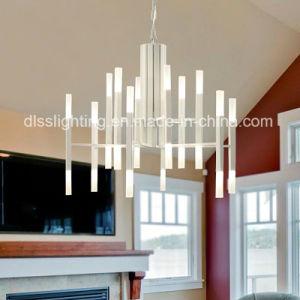 Pfosten-modernes künstlerisches Kreativität-Eisen und hängender heller LED-Glasleuchter