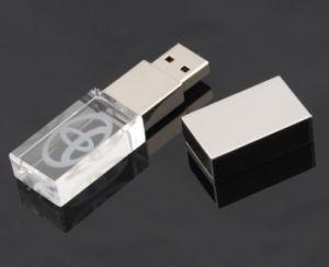 よいデザインLED軽いPendrive 1GB 2GB 4GB 8GB 16GBが付いている水晶USBのフラッシュ駆動機構