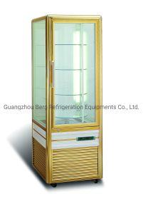2019 Nouveau gâteau en verre de rotation vertical congélateur vitrine de présentation