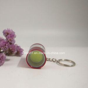 Lâmpada de espigas de alumínio personalizadas lanterna com porta-chaves para o presente de promoção